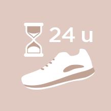 Voorkom een weke huid en laat sportschoenen na het dragen bij voorkeur 24 uur rusten om het vocht te laten verdampen.